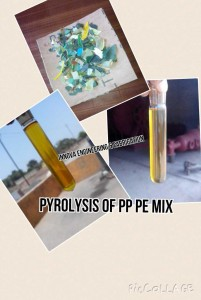 Plastic oil from PP-PE mix