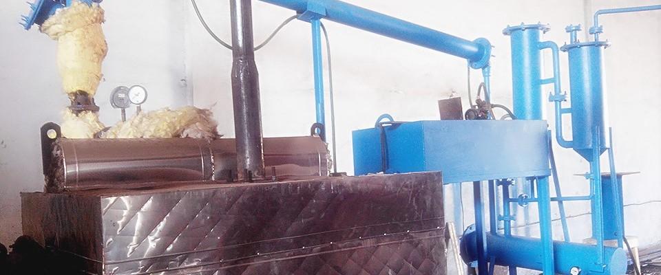 Portable plastic pyrolysis plant